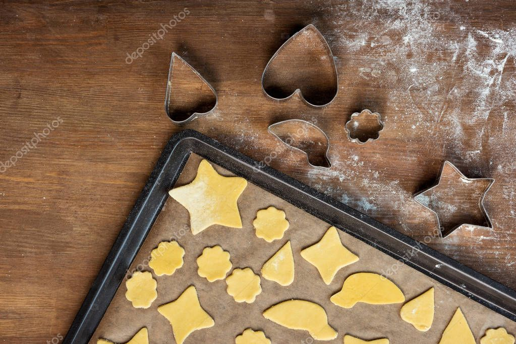 raw shaped cookies