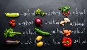 frisches Gemüse und Kalorien Tabelle