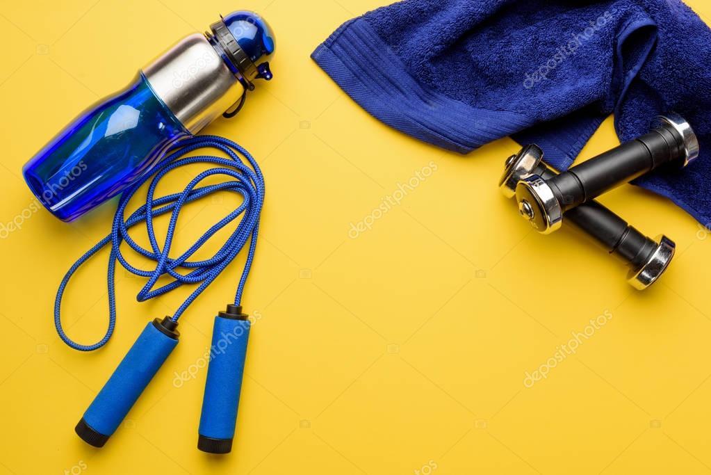 various sports equipment