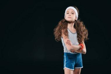 Girl posing in sportswear