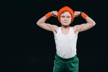 boy posing in sportswear
