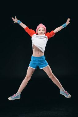 Cute sporty girl