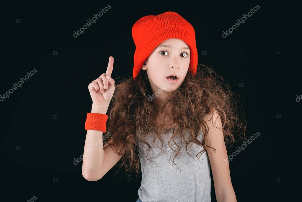 Girl in sportive clothing