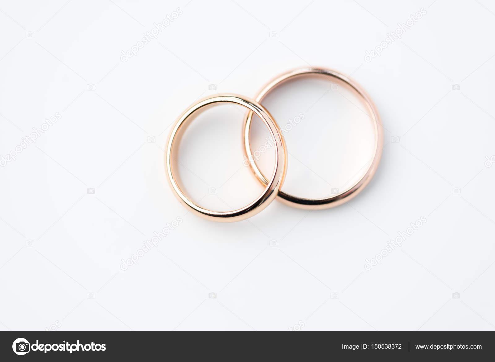 Goldene Hochzeit Ringe Stockfoto C Igortishenko 150538372