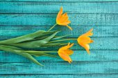 Photo yellow tulips bouquet