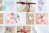 Photo collection of envelopes or invitations