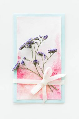 watercolor invitation with flower