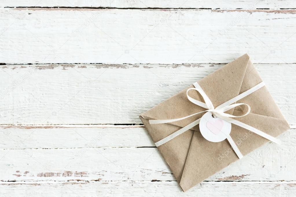 Decorative envelope with ribbon