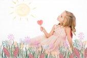 šťastná dívka těší slunce