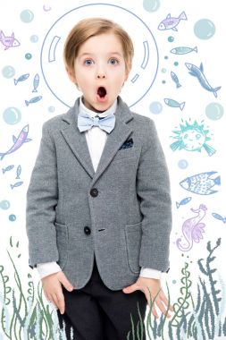 Funny kid underwater