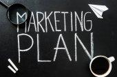 Marketingový plán nápis