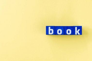 book word made from blue cubes