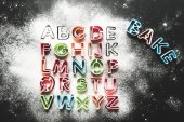 Fotografie baking forms for cookies in forms of letters