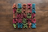 baking forms for cookies in forms of letters