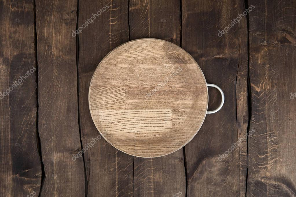 Scratched chopping board
