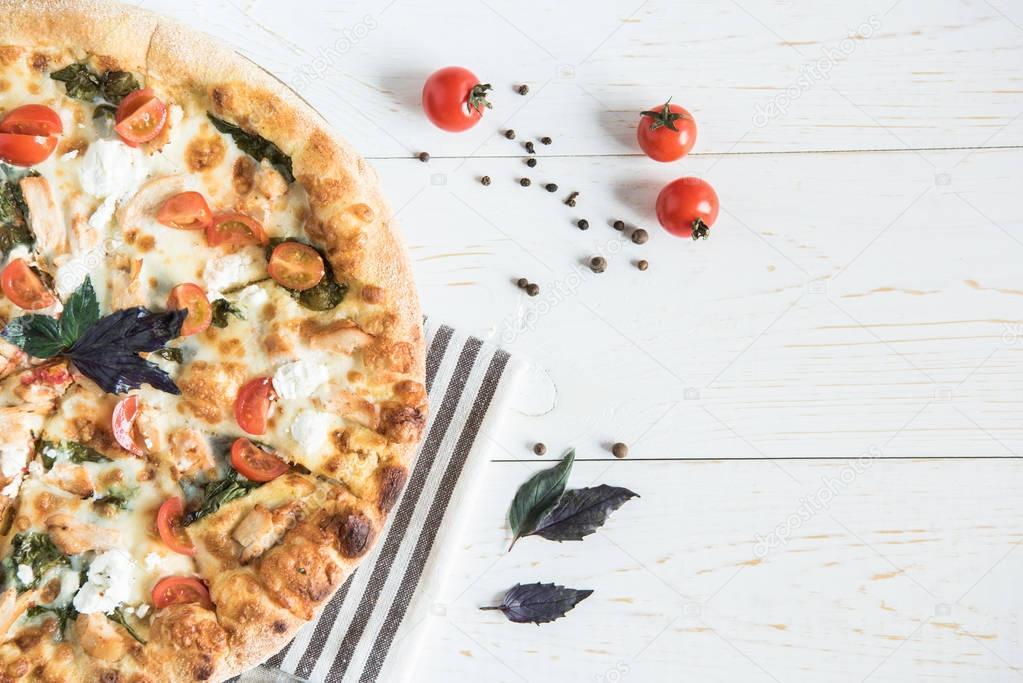 2 italian pizza on napkin