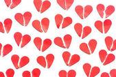 Fényképek halom piros szívek