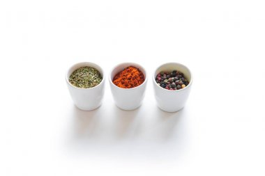 Various spices in containers