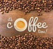 Felirat a kávé idő