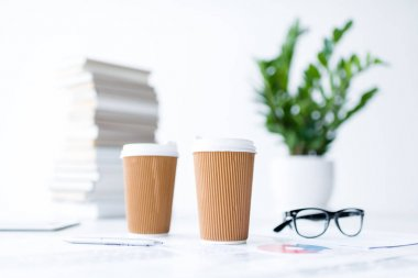 coffee and business documents