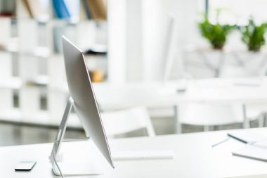 computer monitor on table