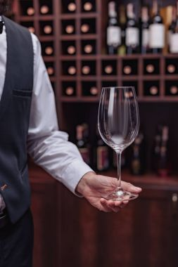 sommelier with wine glass