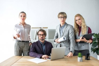 young businesspeople in office