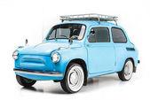 Fotografie modré retro auto