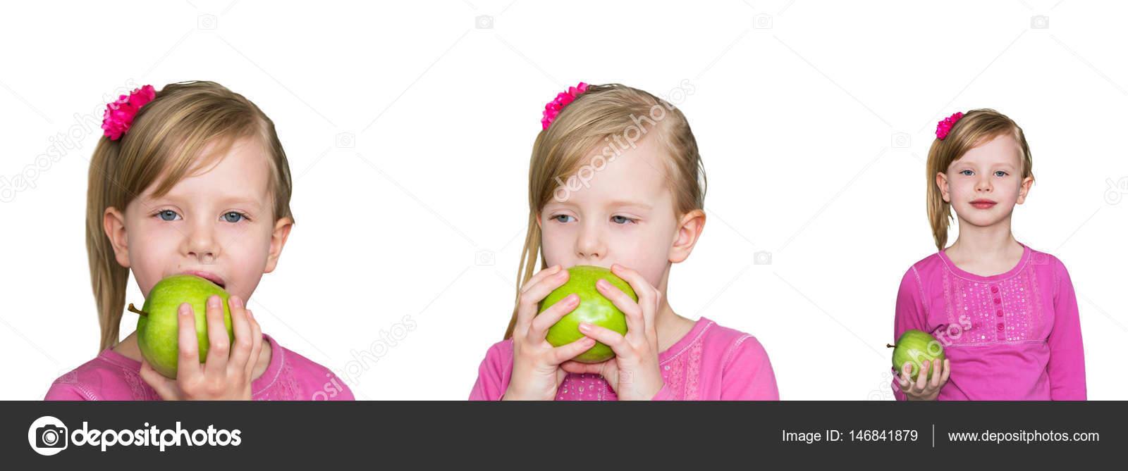 Красивые детей с яблоками 37