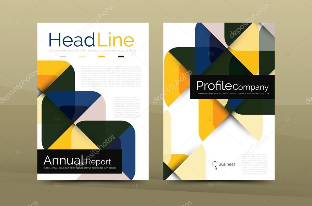 Business Company Profile Brochure Template Stock Vector Akomov - Company profile brochure template
