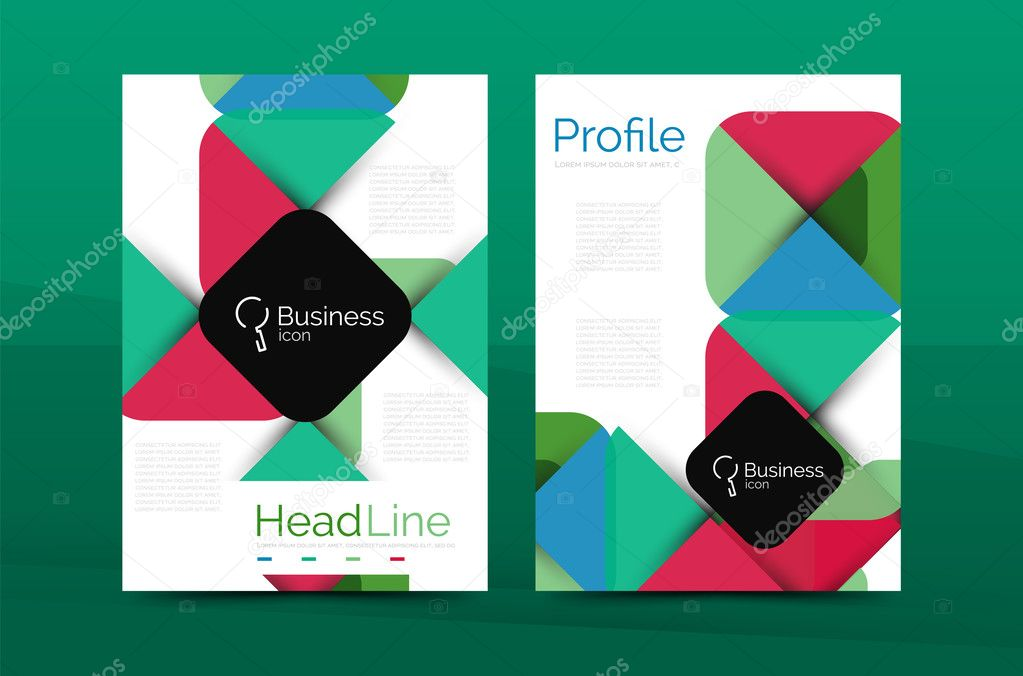Business Company Profile Brochure Template Stock Vector Akomov