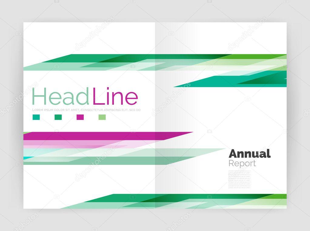 Geometric business annual report templates, modern brochure flyer