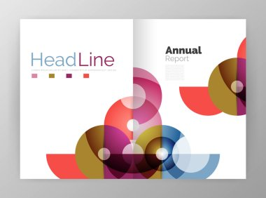 Circle annual report templates, business flyers