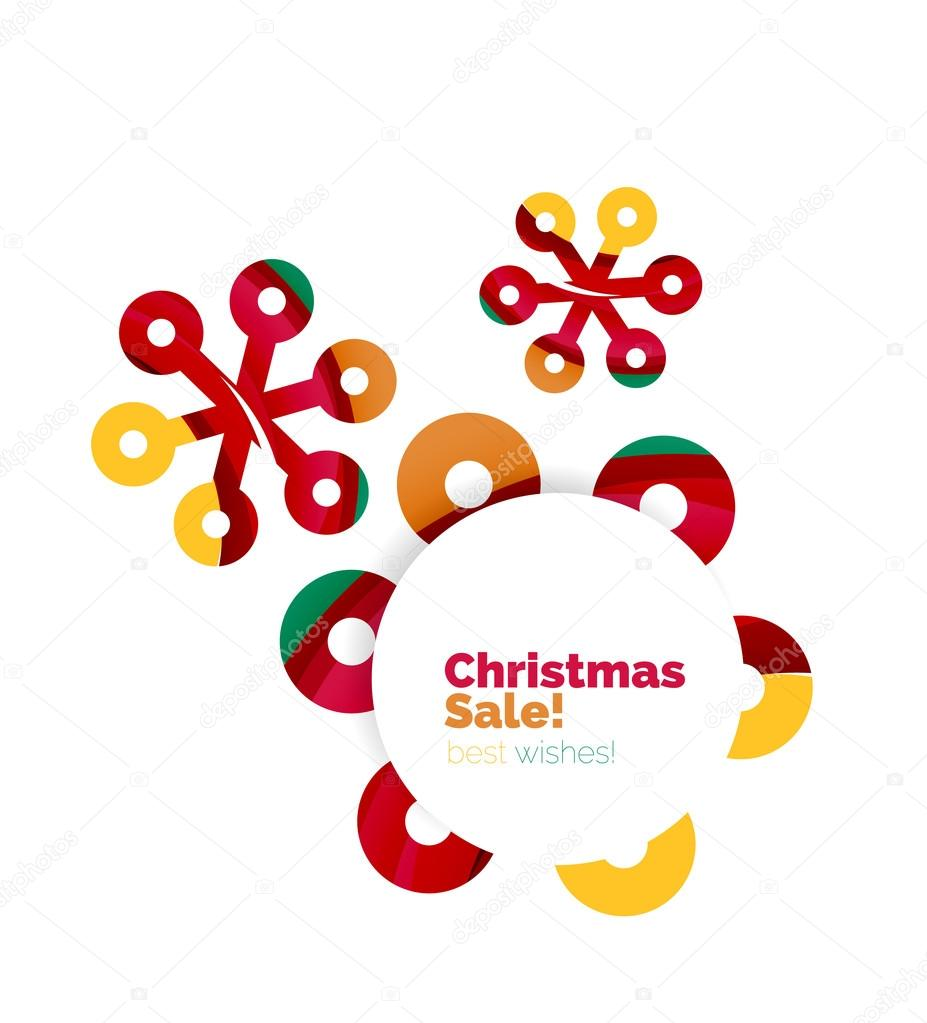christmas and new year sale banner stock vector