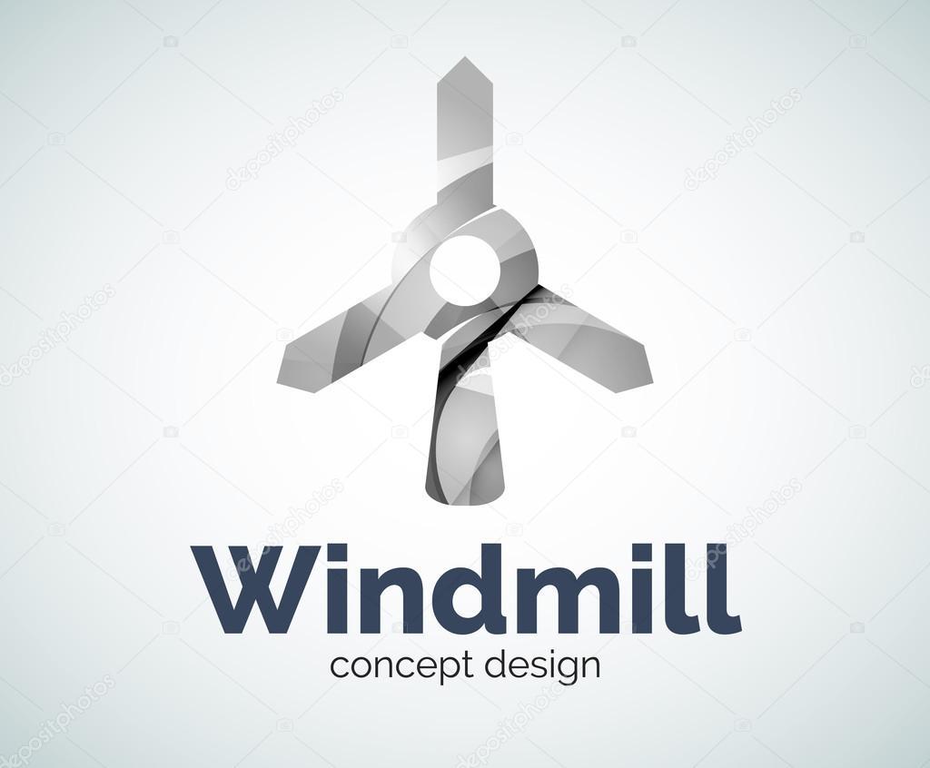 Plantilla de logotipo de molino de viento — Vector de stock © akomov ...