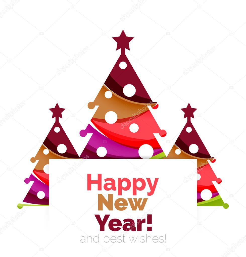 Glückliches Weihnachten Und Neujahr Urlaub Grußkarten Elemente