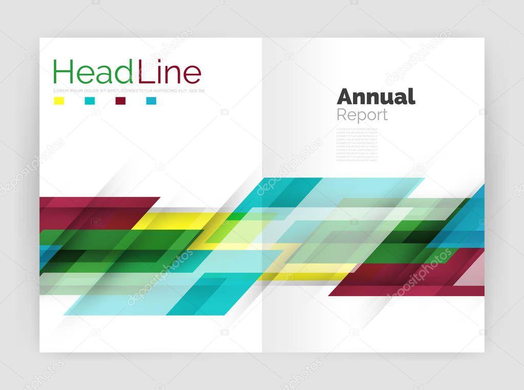 Concepto de movimiento. Plantillas de portada Informe anuales ...