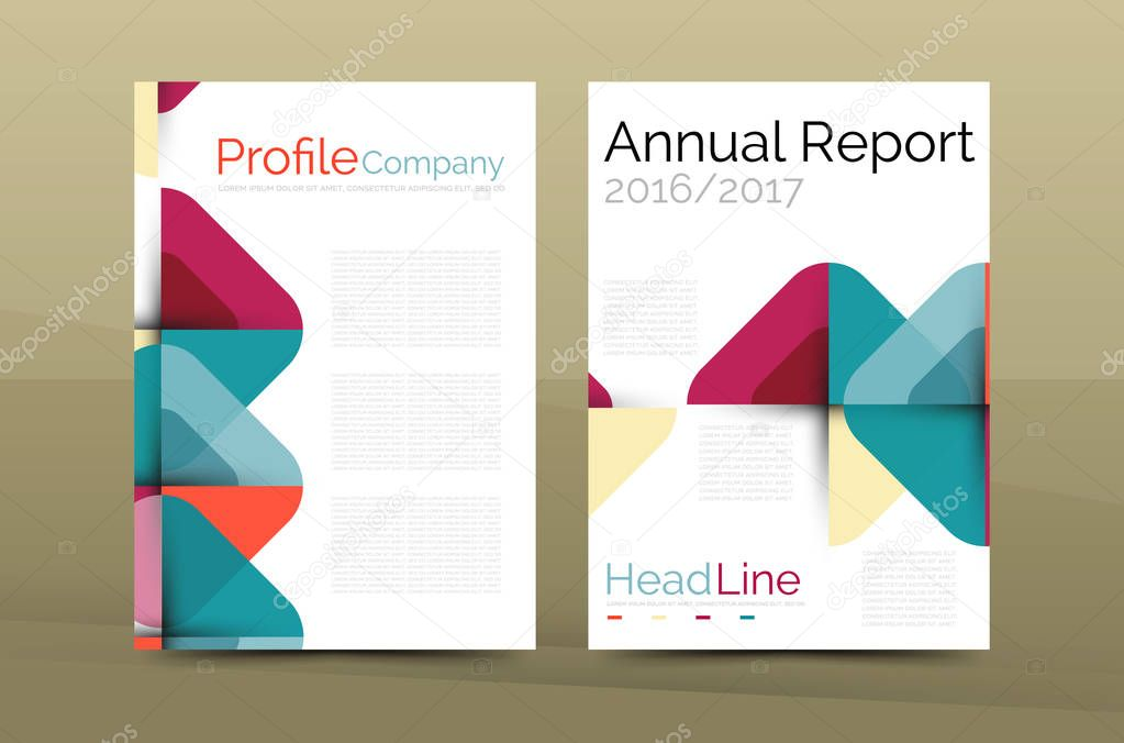 Business Company Profile Brochure Template Stock Vector Akomov - Company profile brochure template