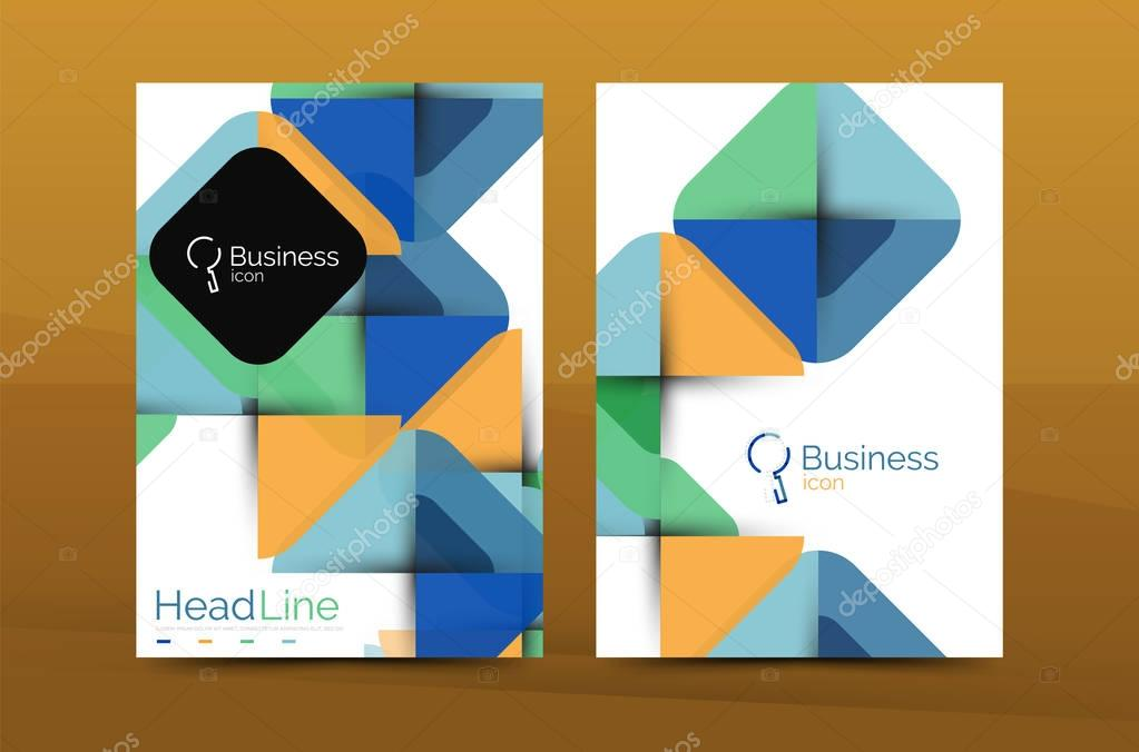 Business annual report cover design template Stock Vector