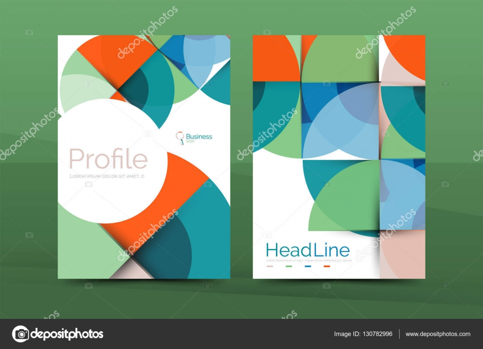 Business Deposit Book Cover ~ 业务年度报告封面设计模板 — 图库矢量图像 akomov