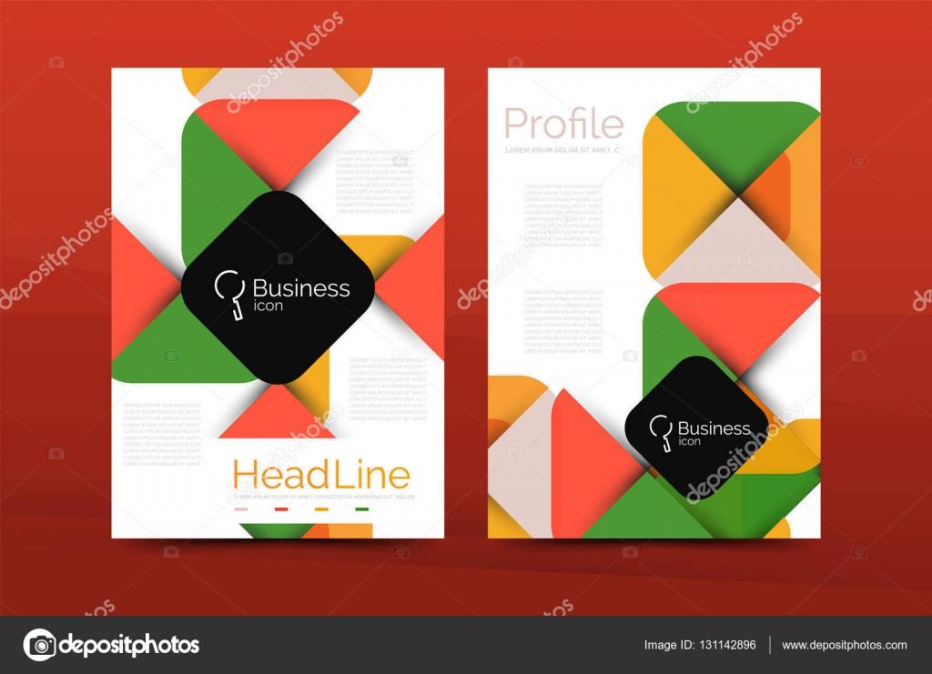 Business annual report cover design template \u2014 Stock Vector © akomov