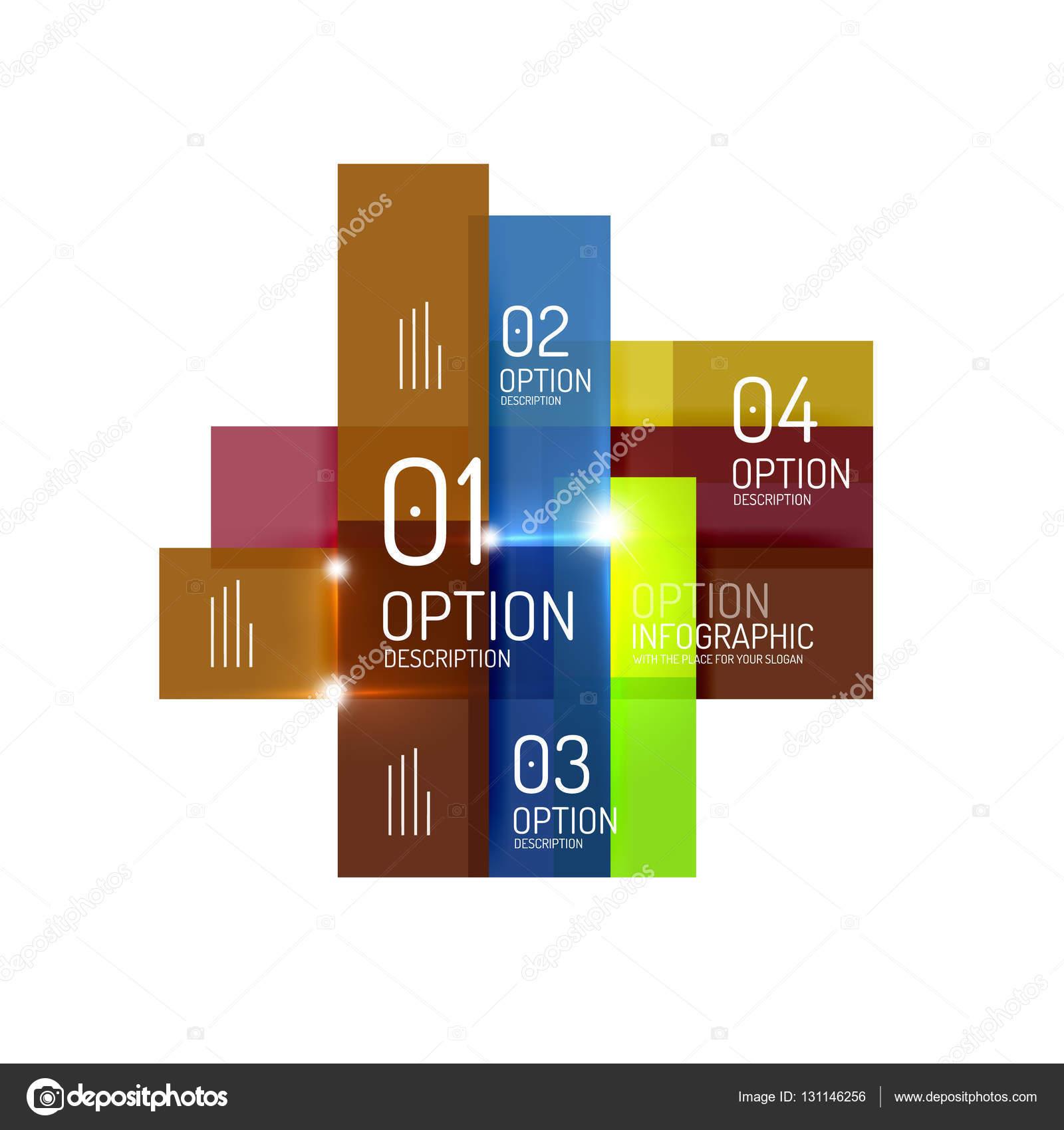 Zusammenfassung Hintergrund Geometrische Infografik Option Vorlagen