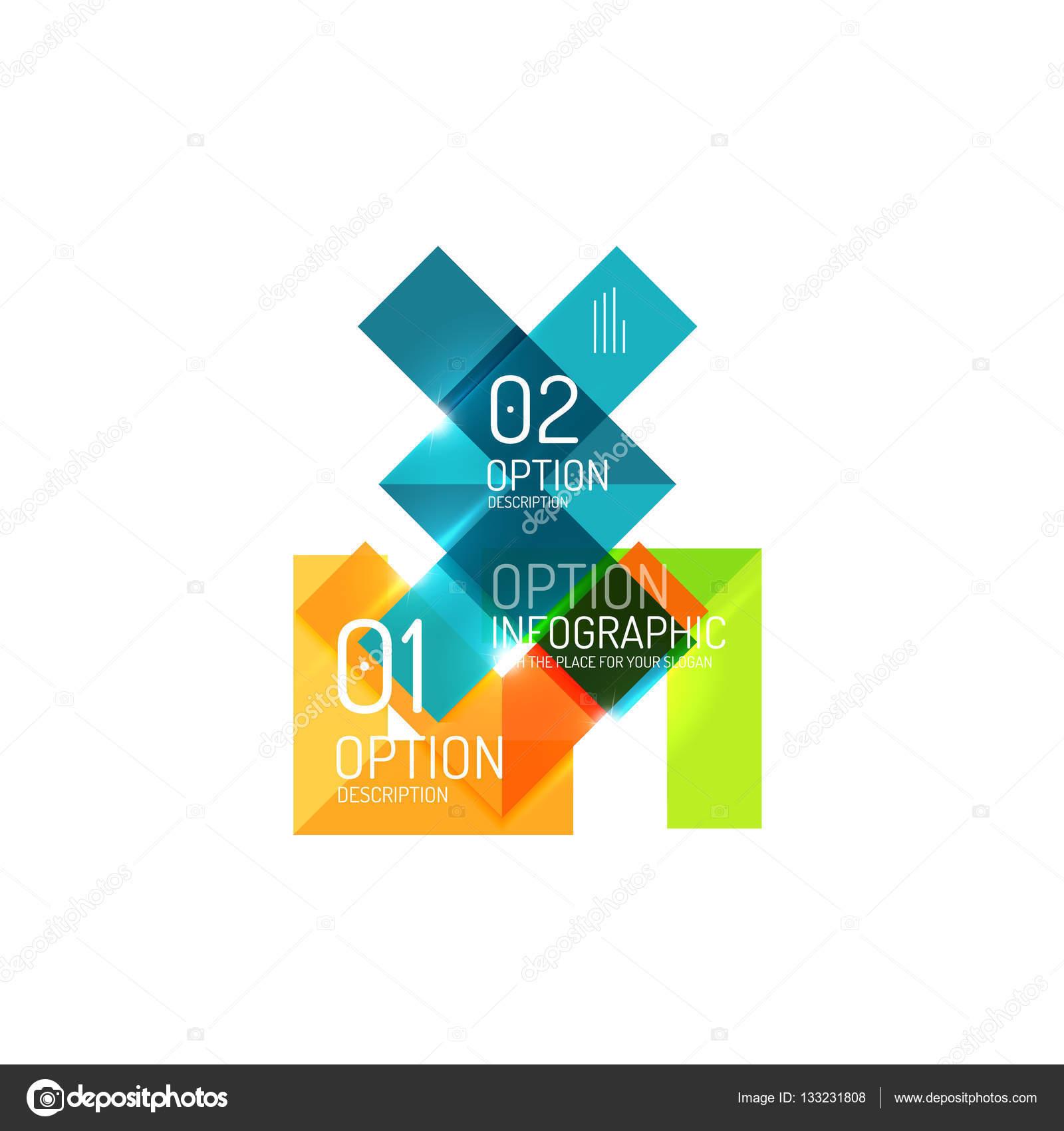 Zusammenfassung Hintergrund, geometrische Infografik Option Vorlagen ...