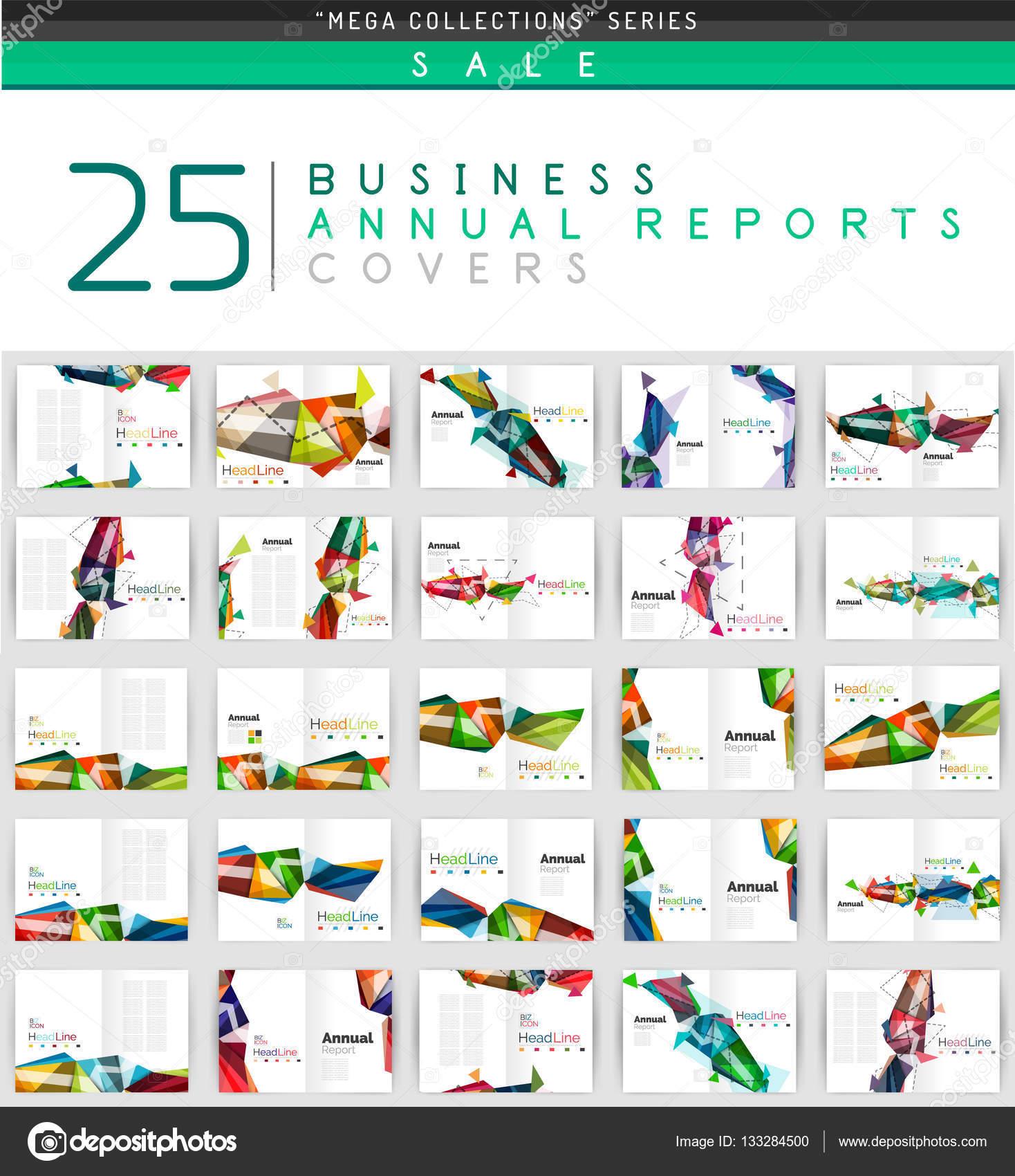 Mega colección de 25 negocios anual informes plantillas de portada ...