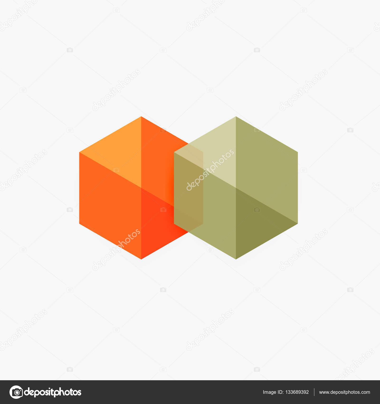 Leere geometrisch abstrakt Business Vorlagen, Sechseck-layouts ...