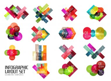 Geometric modern infographic options templates