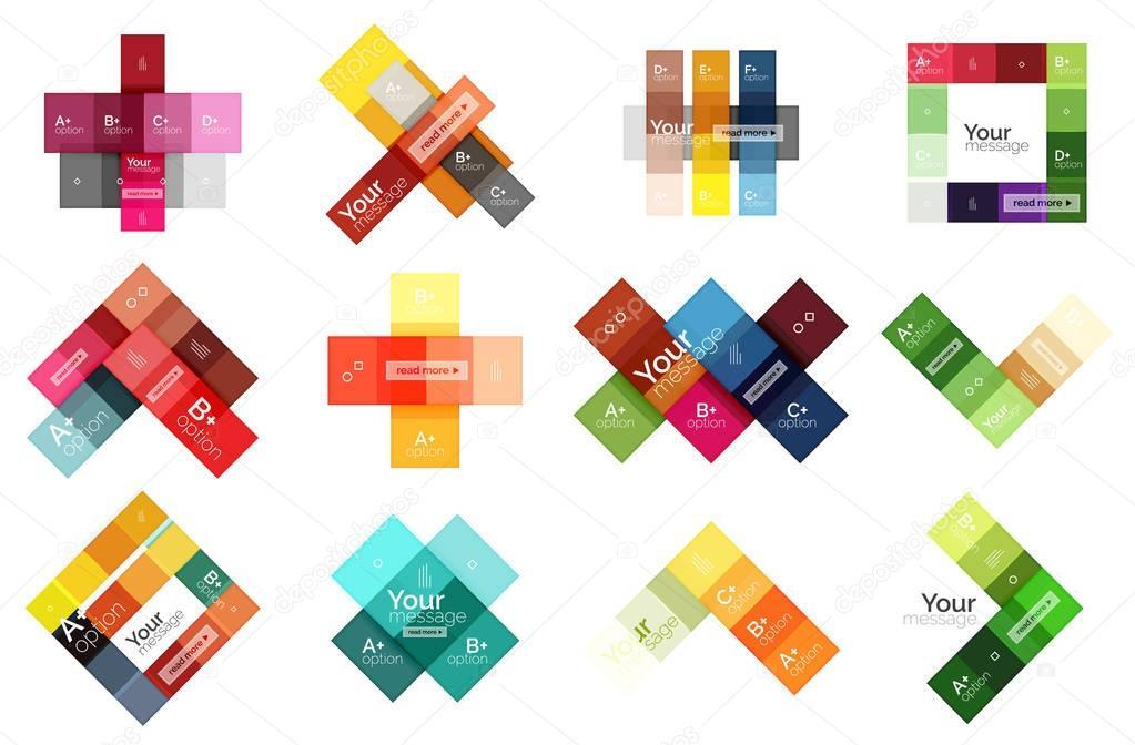 Vektor Farbe Streifen Infografiken Vorlagen — Stockvektor © akomov ...