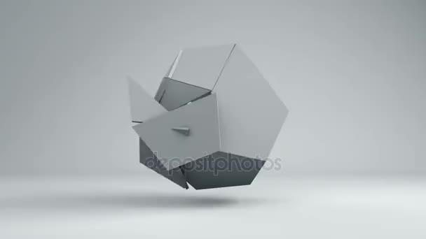 Motion grafika 3d pozadí transformace abstraktní geometrické obrazce