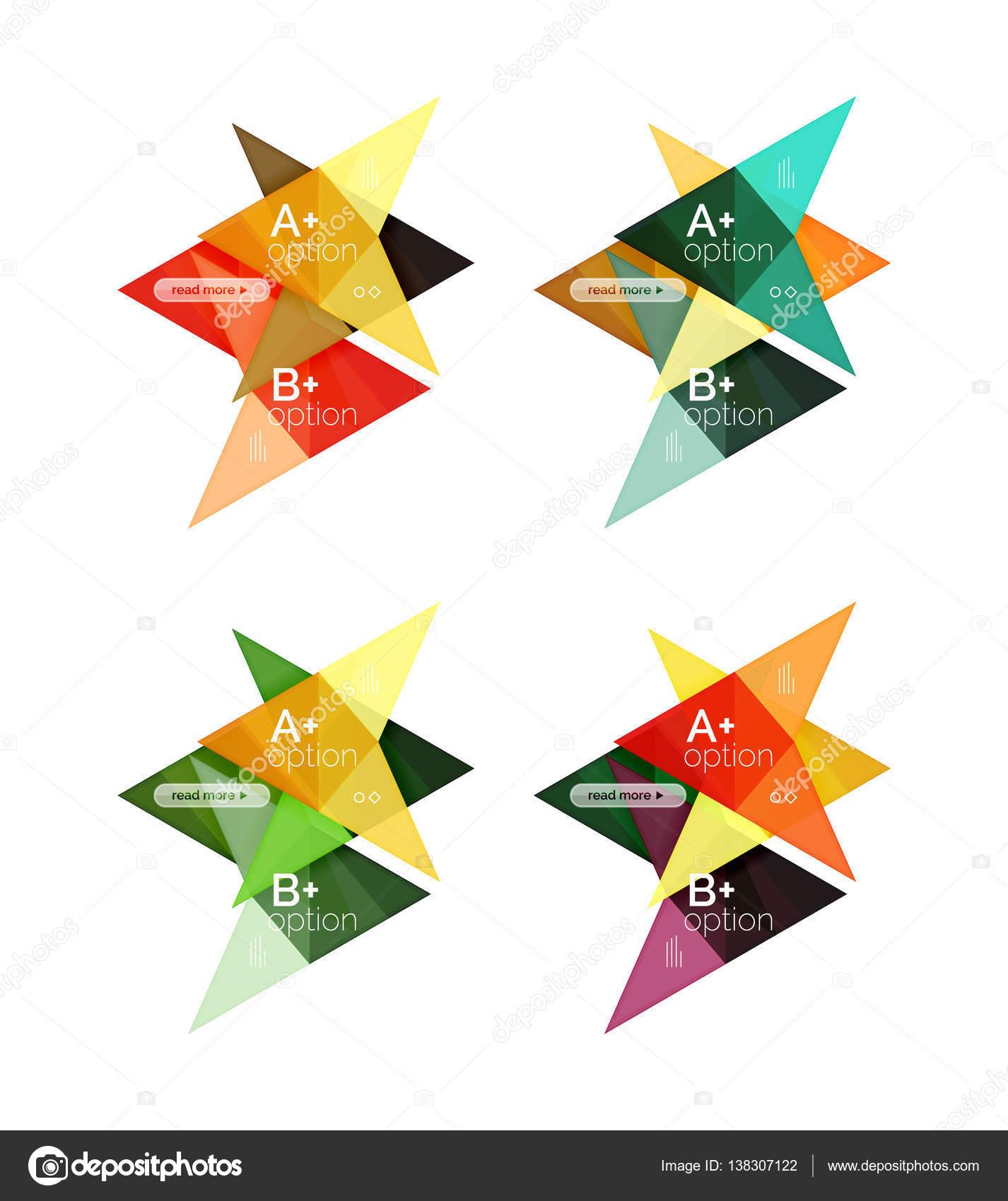 Bunte Pfeil Option Infografiken Banner, Business geometrische ...