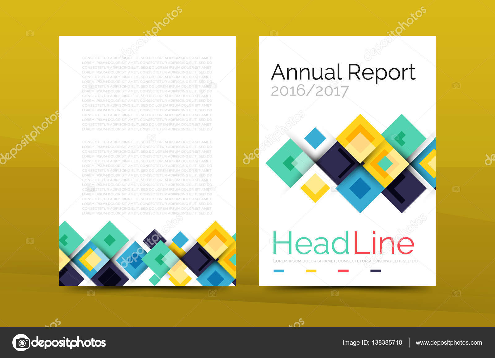 Set of front and back a4 size pages business annual report design set of front and back a4 size pages business annual report design templates stock cheaphphosting